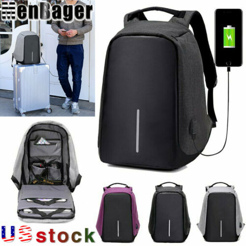 Men's multifunctional Anti-Theft Backpack Laptop Travel USB