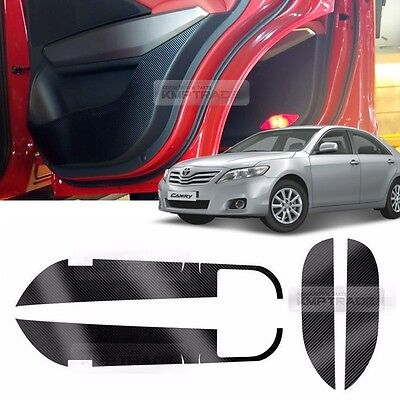 Carbon Door Decal Sticker Cover Kick Protector for TOYOTA 2006 - 2011 Camry