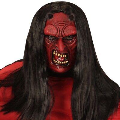 HALBMASKE TEUFEL FÜR KINDER Halloween Maske Monster Satan Dämon 00614