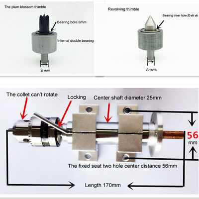 35mm Mini Lathe Drill Collet Chuck Thimble Tailstock For Diy Woodworking Machin