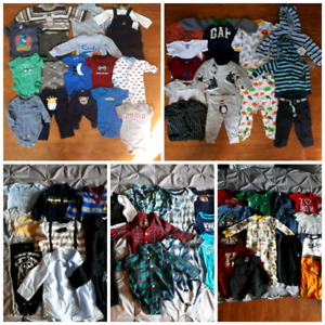 REDUCED LARGE LOT 0-12 MONTH BABY BOY CLOTHING