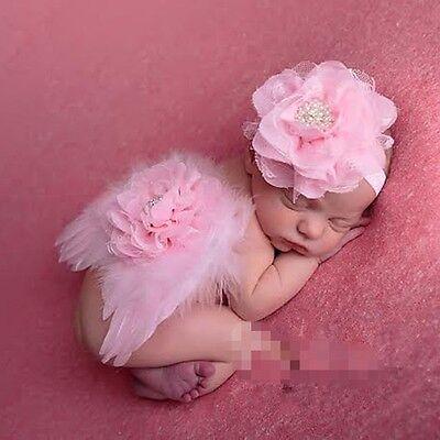 Rosa Engel Flügel Kostüm (Fotoshooting  Baby Kostüm Engel Flügel Foto Shooting Engelsflügel rosa)
