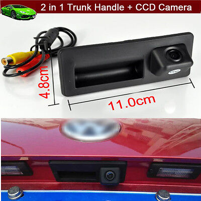 2 in 1 Car Trunk Handle CCD Rear View Reverse Camera For VW Jetta 2011-2017 2018