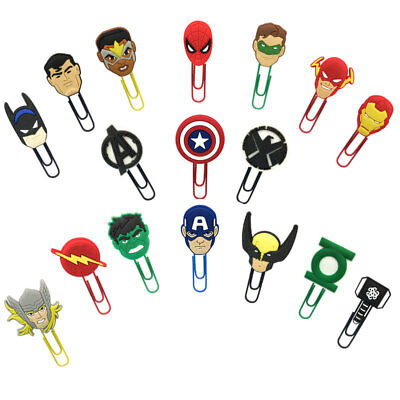 2pcslot Avengers Memo Paper Clips Bookmark Office Binder School Stationery Gift