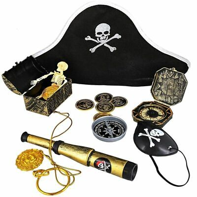 100-Count Kids Pirate Favor Toys and Accessories Set, Party Supplies for Decor
