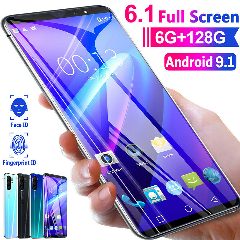 "P41pro  6,1"" Android 9,1 Smartphone 6+128G Dual-SIM Handy 8+16MP 8 Core 4G Netz"