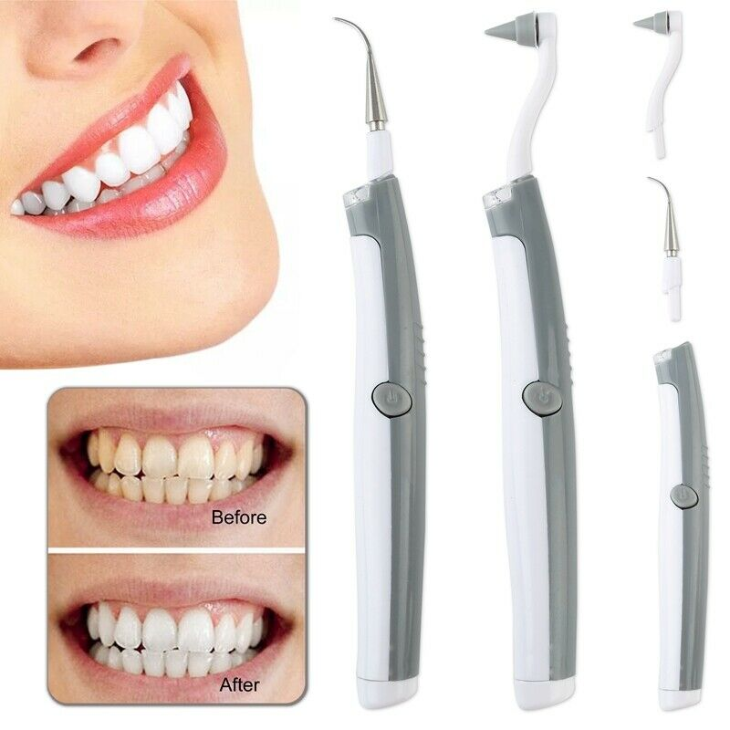 Details about Electric Sonic Dental Stain Polisher Teeth Whitener Plaque  Tartar Remover Great