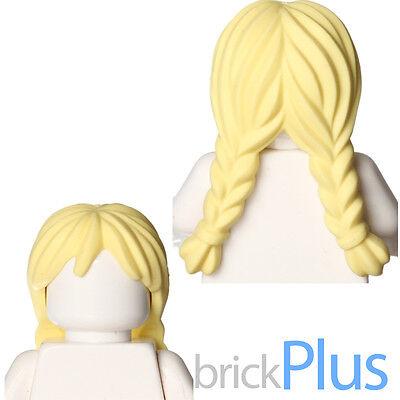 Brown LEGO Headgear Hair Female Mid-Length with Braid Minifig