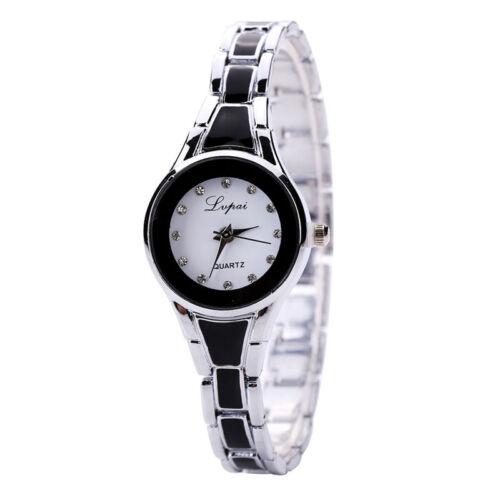 Fashion Womens Gold Stainless Steel Luxury Bracelet Analog Quartz Wrist Watch