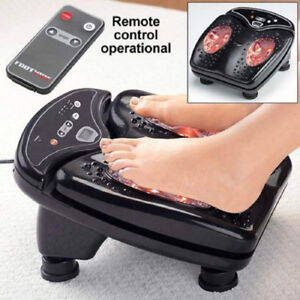 FOOT MASSAGER: VIBRATES CIRCULATES. OPEN-BOX. works fine