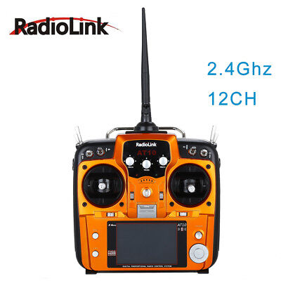 RadioLink AT10II 2.4G 12 Channels RC Transmitter R12DS Receiver PRM-01 for Drone