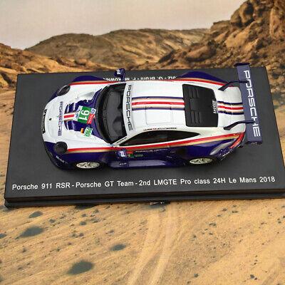 Porsche 911 RSR 2nd LMGTE 24H Le Mans 2018 #91 Spark 1:64 Car Model Best