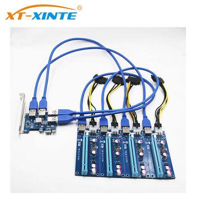 Riser Card PCI-E USB 3.0 PCIe Port Multiplier Card PCI Express PCIe 1 to 4 PCI-E