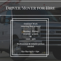 Mover for Hire - Immediate Start Monday March 27th 2017