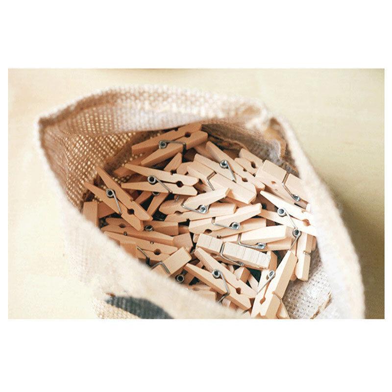 50-200 Stück Holz Wäscheklammern 3cm Holzklammern Socken BH´s aufhängen Deko