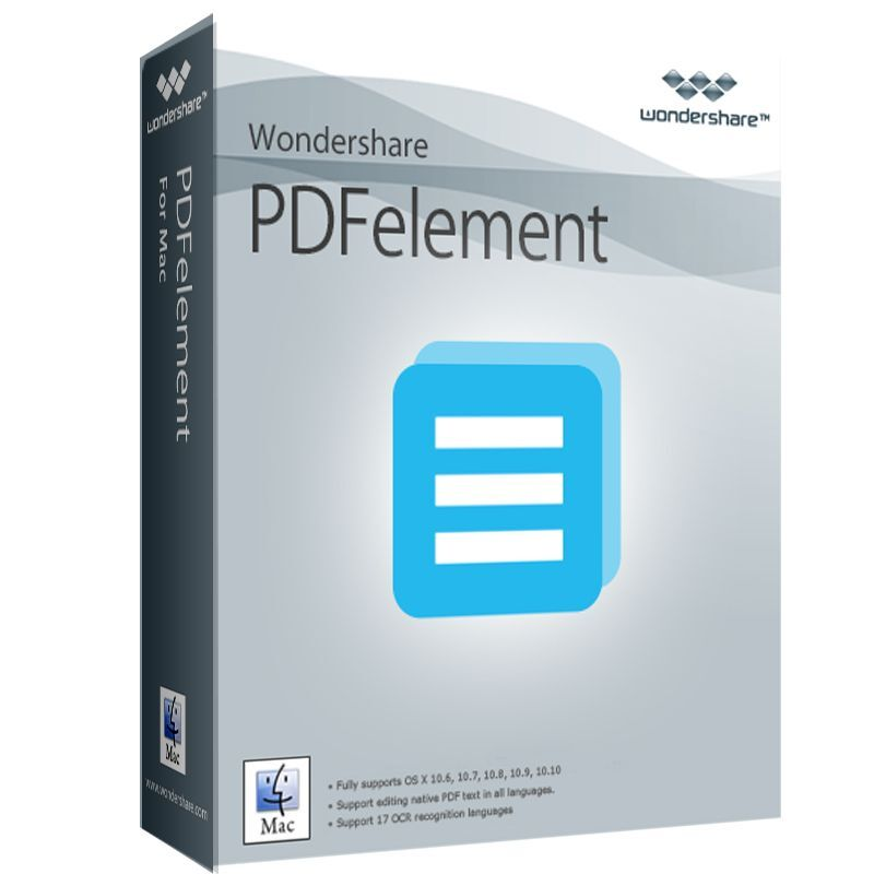 Wondershare PDFelement + OCR MAC V 5.0 ESD Download 39,99 statt 99,95 !