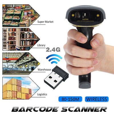Wireless Bluetooth 2.4g Barcode Scanner Handheld Usb Receiver Laser Rechargeable