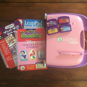 Leap pad reading system with 3 Cartagena and books
