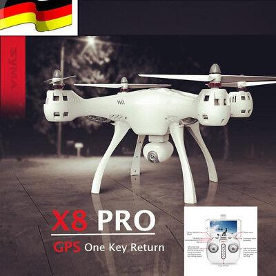 DE Lager SYMA X8PRO GPS Return RC Quadcopter WIFI FPV Kamera Drohne X8 Pro Drone