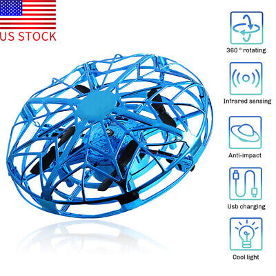 Drones for Kids Flying Toys Mini UFO Drone Safe Induction scratch resistant Blue