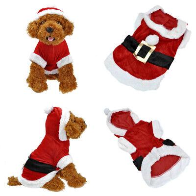 Weihnachten Party Haustier Kleider Kostüme Hunde Kleidung Kapuzenpullover XXS-L (Hund Weihnachten Kostüm Kostüme)