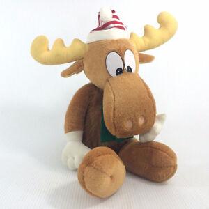 "Bullwinkle Moose Plush Stuffed Animal Macys Lg 25"" Xmas Doll '96"