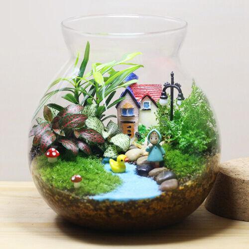 Diy figurine craft plant pot garden ornament miniature for Decorative lawn ornaments