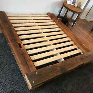 Beautiful Rustic Barn Wood Beam Queen Bed AVAILABLE NOW Kitchener / Waterloo Kitchener Area image 2