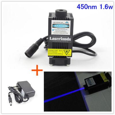 450nm 445nm Blue 1.6w 1600mw Laser Diode Module Cnc Engraving Cutting Engraver
