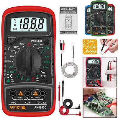 Digital Lcd Multimeter Voltage Tester Ac Dc Voltmeter Current Tests Ammeter