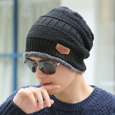 Beanie Skull Cap Unisex Cashmere Wool Knit Winter Hat Beanie For Men Women HOT ()