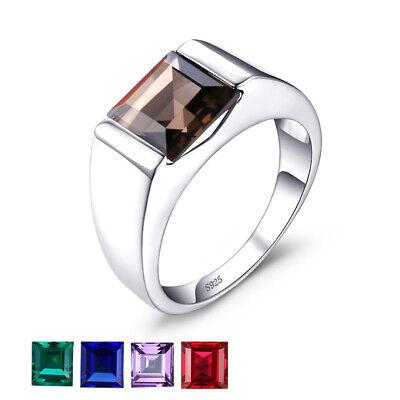 JewelryPalace Sapphire Emerald Quartz Herren Ringe Massivem 925 Sterling Silber ()