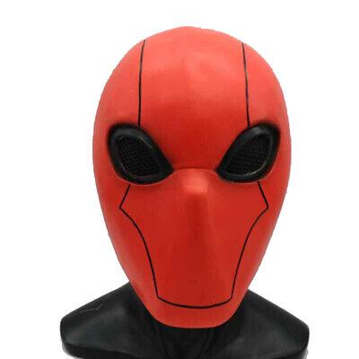 Batman Red Hood Halloween Costume (Batman Red Hood Jason Todd Cosplay Mask Full Face Latex Helmet Halloween)