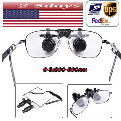 Us- 6.5x R 300-500mm Dental Loupes Surgical Medical Binocular With Carrying Case