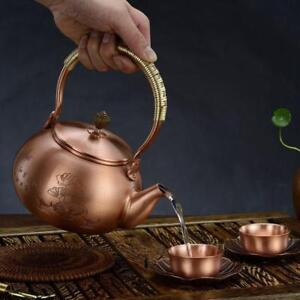 Handmade Vintage Cast Teapot Tea Kettle with Copper Lid for Boiling Water 032014