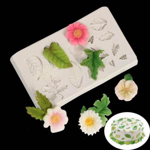 Cake Mold Flower Petal Leaf Silicone Baking Mold Fondant Sugarcraft Mold Tool LS