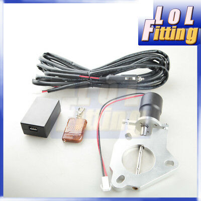 "3"" Inch Car Electric Exhaust Downpipe Cutout Valve Motor+Remote Control Switch"