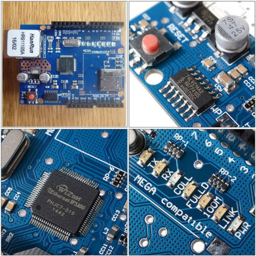 W5100 Ethernet Shield Network Expansion Board Micro SD Card Slot for Arduino