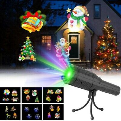 Christmas Lights Projector LED Laser Outdoor Xmas Lamp Flashlight 6 Pattern Hot