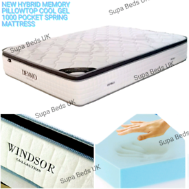 💠NEW 4FT6 DOUBLE PILLOW TOP 1000 POCKET SPRING MATTRESSES ON SALE.
