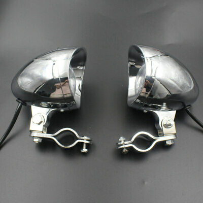 MOTORCYCLE BULLET PASSING SPOT FOG LIGHT WITH MOUNT BRACKET CLAMP FOR
