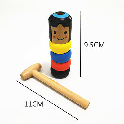 Magic Toy Unbreakable Wooden Man For Children Best Gifts Christmas Kids