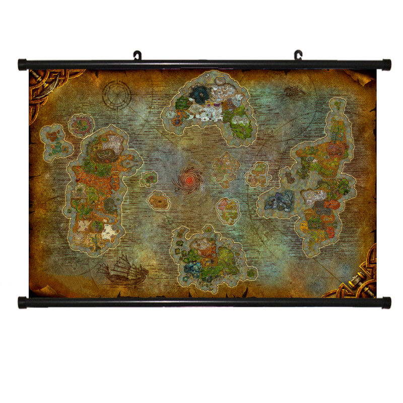 Details about World of Warcraft MAP Chronicles Azeroth Game Scroll Painting  Poster Map New8.0