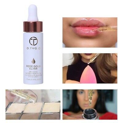 24k Rose Gold Makeup Anti-aging Elixir Skin For Face Essential Moisturizing Oil