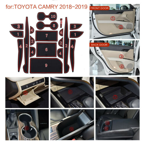 20Pcs Custom Cup Door Console Liner Car Accessories For Toyota Camry 2018-2019