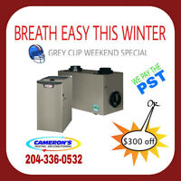 GREY CUP WEEKEND SPECIAL ON ALL FURNACES & EQUIPMENT