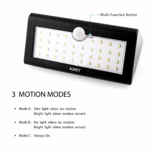 AUKEY Solar Lights, 36 LEDs Outdoor Wall Mounted, Security!