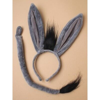 Esel Kostüm Tier Kostüm Ohren und Schwanz Welttag des Buches (Tier Kostüme Ohren)