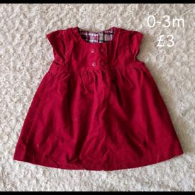 0-3m red dress