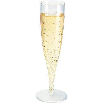 60 Einweg Sektgläser 0,1l Champagnergläser Sektkelche Sektglas mit Steckfuß